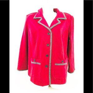 Drapers & Damons Petite Red Blazer Jacket Sz PL